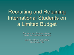 How to Recruit and Retain International Students on a Shoestring