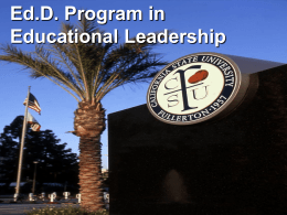 PowerPoint - College of Education at California State University