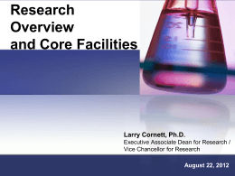Research Overview and Core Facilities