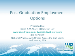 Post Graduation Employment Options: Clearing All
