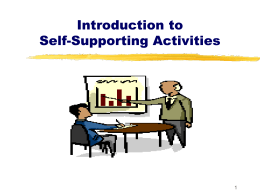 Self Supporting Act Intro 11-12 Final