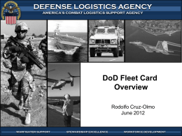 DoD Fleet Card