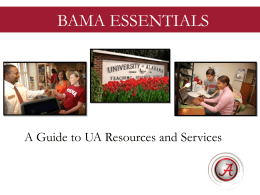 Bama Essentials - Parent Programs