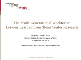 The Multigenerational Workforce: Lessons