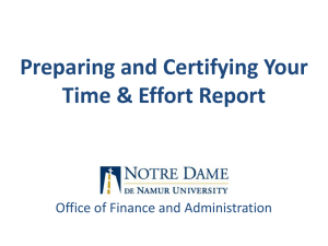 Time and Effort Reporting Tutorial PowerPoint