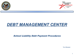 DEBT MANAGEMENT CENTER - National Association of Veteran`s
