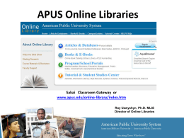 APUS Libraries & Online Course Guides School