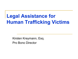 Legal Assistance for Human Trafficking Victims