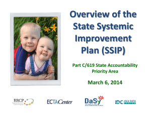 Part 1: Overview of the State Systemic Improvement Plan (SSIP)