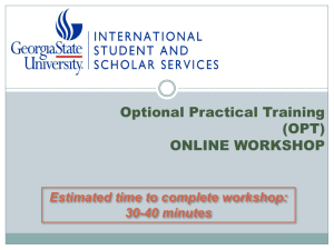 OPT - International Student & Scholar Services