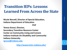 Transition IEPs - Indiana Institute on Disability and Community