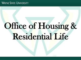 Office of Housing and Residential Life