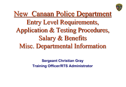 NCPD Recruitment, Testing & Selection
