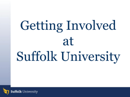 Getting Involved - Suffolk University