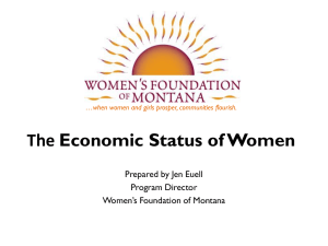 Economic Status of Women in Montana