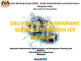 Delivering Government Services Through ICT