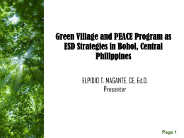Green Village and PEACE Program as ESD - RCE