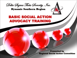 Social Action - Delta Sigma Theta Sorority, Inc. Southern Region