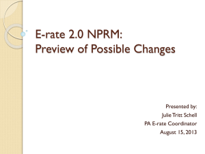 E-rate 2.0 NPRM: Preview of Possible Changes