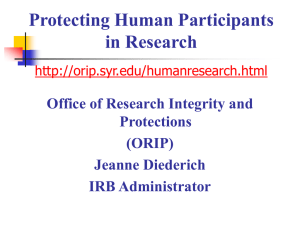 Information for Investigators - Office of Research Integrity and