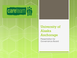 UAA Care Team Presentation - University of Alaska Anchorage