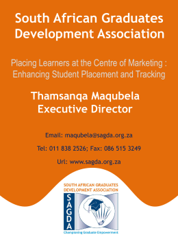 South African Graduate Development Association, placing learners