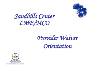 Medicaid - Sandhills Center
