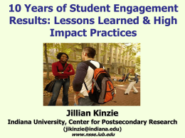 Assessing Student Engagement in High-Impact Practices