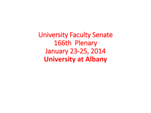 University Faculty Senate 166th Plenary January