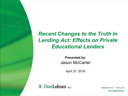 TILA for Private Educational Lenders – Exemptions