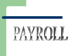 Payroll Presentation - La Biomed Resources