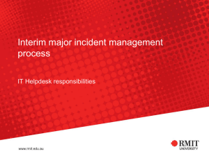 Interim Major Incident Management
