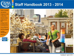 staff-hanbook-i - George Brown College