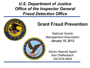 Grant Fraud Prevention
