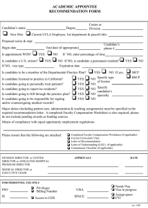 academic appointee recommendation form