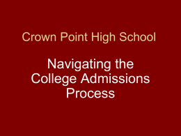 Crown Point High School - Crown Point Community School