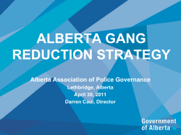 Alberta Gang Reduction Strategy