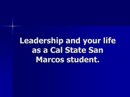 CSUSM Leadership - California State University San Marcos
