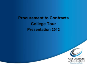 Procurement to Contracts Presentation
