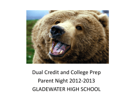 Dual Credit Information Powerpoint
