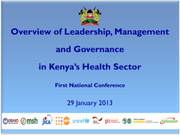 Kenya Institute of Health Systems Management