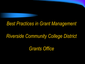 Best Practices in Grant Management