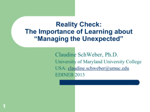 Reality Check: The Importance of Learning about