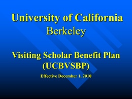 PowerPoint Training - VSPA - University of California, Berkeley