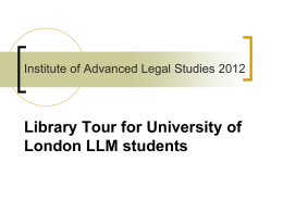Library Tour for new LLM students