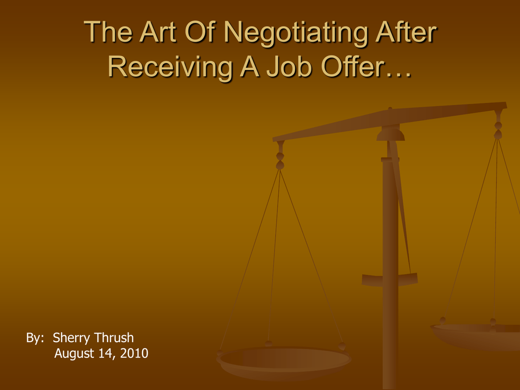 the art of negotiating after receiving a job offer