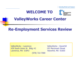 ValleyWorks Lawrence RES Group Review