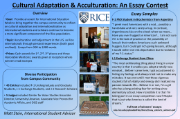 Essay Contest Outline - Rice University Office of International