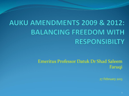 auku amendments: towards more freedom for usm students