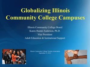 Globalizing college campuses - Illinois Community College Trustees